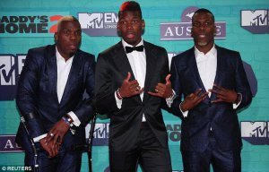 Manchester United Star, Paul Pogba And His Twin Brothers Dance At MTV EMA (Photos, Video)