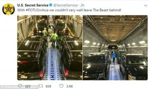 American Secret Service Shares Rare Images How They Transport The President's Car fleet. (Photos)