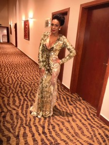BBNaija star, TBoss steps out for AFRIMA 2017 in stunning gown (Photos)