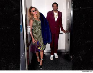 Jay Z and Beyonce steps out for Jay Z's 48th birthday yesterday (Photo)