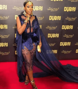 See Beverly Naya's Transparent Arabian Dress To The Wedding Party 2 Premiere [Photos]