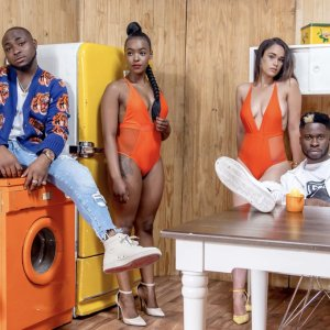 Davido, DJ Ecool And Ladies In Swimsuit (Photos)