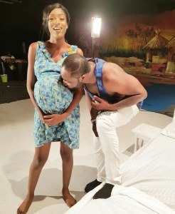 Harrysong Kisses Baby Bump Of A Beautiful Lady (Photos)