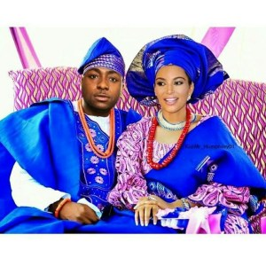 Check out Davido and Kim Kardashian's traditional wedding photo