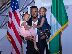 Flavour Carries His Two Daughters – (Photo)