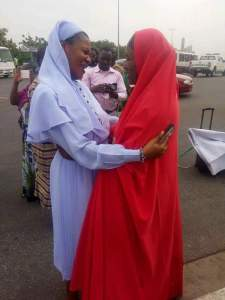 Lovely photo of Catholic Reverend Sister & Muslim Sister Hugging Themselves In Jos. (See Reactions)