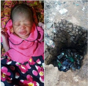 Mother Throws Baby Into A Gutter, Baby Rescued Alive By Residents (Photos)