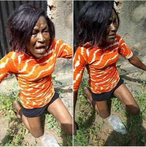 Woman Caught Stealing In Enugu State (Photos)