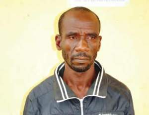 See the man who flogged his neighbour to death in Niger State (Photo)