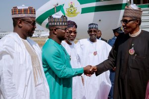 President Buhari arrives Abuja from Jordan (Photos)