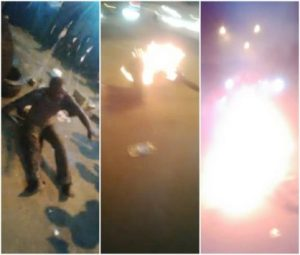 Kidnapper refuses to die after he was set ablaze by mob in Lagos (Photos)