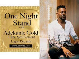Adekunle Gold Promotes His Show With Condom Design, Fans Reacts (Photos)