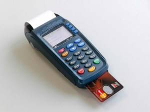 POS machine used during service in a church (Video)