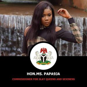 Nigerian Lady declares herself Commissioner of Slay queens and sexiness