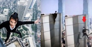 Chinese Social media star falls to his death while trying to do pull-ups on a skyscraper (Photos)
