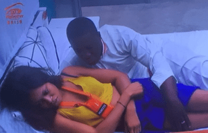 BBNaija: Bitto Caught Trying To Touch Princess (Photos)