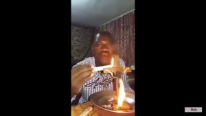Man Sets Cross On Fire Claims Christians Are Worshiping Idols (Photos & Video)