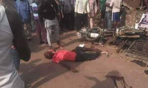 Okada Rider Collides With Corolla, Dies On The Spot (Graphic Photos)