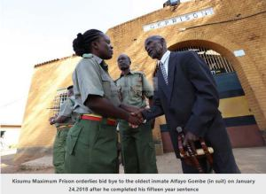 Kenyan Oldest Prisoner Finally Released From Jail At Age 87 (Photos)