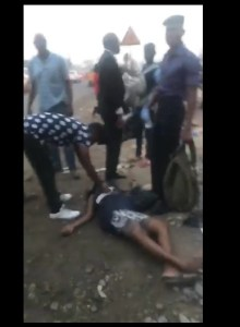 Pregnant Woman Slumps After Slap From A Naval Officer In Lagos. (Photos & Video)