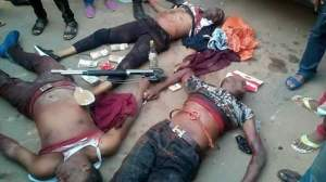 See The Retired Police Officer & His Gang Of Armed Robbers Killed In Imo State – (Graphic Photos)