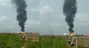 JUST IN! Residents Flee Over Tank-Farm Explosion In Navy Town, Ojo, Lagos (Photo)