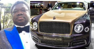 Check out Olu Okeowo's N2 Billion Garage: 6 Rolls Royce, 4 Phantoms, 2 Ghosts, 1 Bentley (Video)
