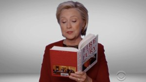"Hillary Clinton mocks Trump in surprise ""Fire and Fury"" Grammy comedy skit (Video)"