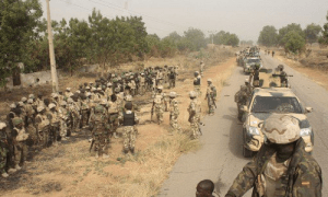 Women protest nude, attack army for searching mysterious pond in Plateau community over missing General