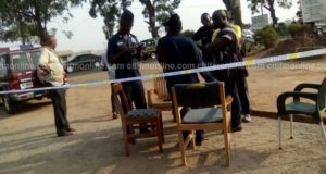 BREAKING: Armed robbers attack police station, kill policeman, free cell inmates in Accra, Ghana (Photos)