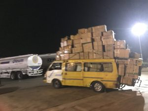 Check Out This Overloaded Bus With Multiple Cartons Of Goods In Lagos (Photos)