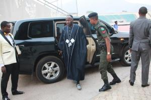 Apostle Johnson Suleman And His Police Escort Arrive Church Event, Nigerians react (Photos)