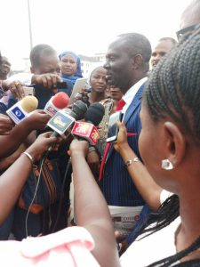 IBB's aide, Kassim Afegbua Turns Himself In At Police Headquarters (Photos)