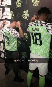Wizkid And Iwobi Model The New Super Eagles Jersey (Photos)