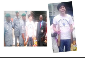 Chinese Man Arrested In Lagos With Elephant Tusks N494 Million Worth (Photos)