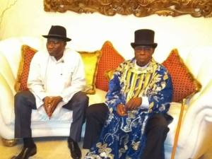 Obasanjo Meets Goodluck Jonathan And Patience In Otueke (Photos)