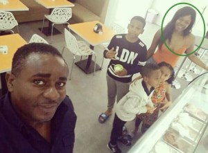 Emeka Ike Steps Out With His South African Girlfriend And Her Kids (Photos)