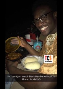 Man Enters Cinema With Fufu And Soup To Watch Black Panther (Photo)