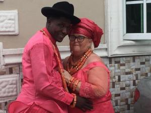 See Photos Of A Delta State Vigilante Marrying His White UK Wife (Photos)