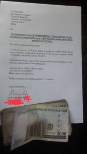 Man Returns N30,000 Wrongly Dispensed To Him By Diamond Bank ATM