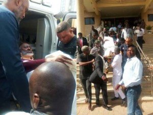 #Olisa Metuh: Nigerians React to Olisa Metuh On Stretcher In Court Today (Photos)