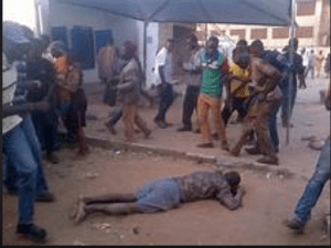 Man Shot In Both Legs By Armed Robbers In Front Of A Bank For Delaying To Give Them N1.7million