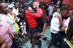 See photos from a kissing competition in Kampala, Uganda