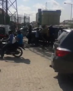Nigerian Man Pulls Out Belt & Flogs His Wife After She Slapped His Side Chick' (Video)