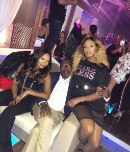 Nigerian Billionaire, Femi Otedola Takes His Daughters, Temi and Florence To A Night Club (Photos & Video)