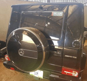 Check out Senator Dino Melaye's G Wagon Riddled With Bullets (Photos)
