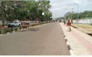 See the empty streets that welcomed President Buhari to Benue State (Photos)