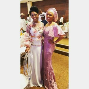 Check out Genevieve Nnaji's look At Fatima Dangote And Jamil Abubakar's Wedding In Lagos (Photos)