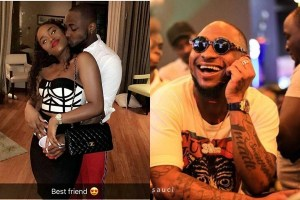 """I love you"" – Davido Celebrates His Girlfriend, Chioma On Her Birthday, Kisses Her (Photos, Video)"