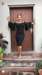 See Tonto Dikeh's Outfit As She Steps Out For International Women's Day (Photos)